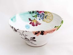 Heidi Hirengen webshop - Unik skål  ceramics decals bowl