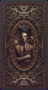 H.P.Lovecraft - 'Dark Grimoire Tarot' back suits.