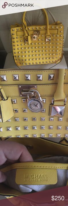 Large Michael Kors studded purse Love this purse but never used it!! Michael Kors Bags Totes