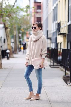 great sweater and clutch