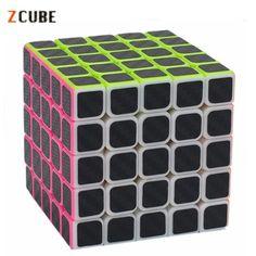 Zcube 5x5 Carbon Fiber Sticker Speed Smooth Magic Cube #Affiliate