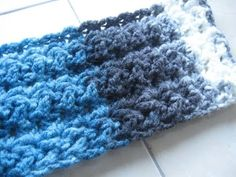 Star Fish Stitch Scarf REVISED - Left Handed Crochet Tutorial Great Mens Scarf - YouTube