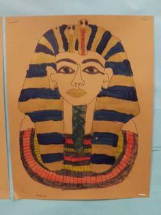 Ancient Egypt Project - King Tut - First Grade Art
