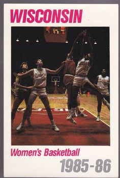 1985-86 WISCONSIN BADGERS WOMENS BASKETBALL SCHEDULE FREE SHIPPING #Schedule