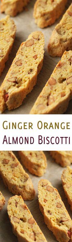 Ginger Orange Almond Biscotti