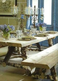 Shabby Chic table decoration - countrysidelife