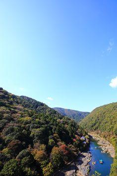 青い空 保津峡 京都 絶景 嵐山公園 亀山地区 展望台