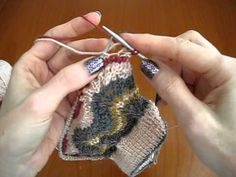 Knitting in Ends - Continental tutorial video. I think I finally get it!