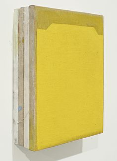 Finbar Ward | Untitled | 2014 | Oil on linen and wood | 30 x 22 x 8 cm — at FOLD Gallery London.