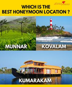 Comment your suggestions,Lets see which is the best #RomanticDestination in Kerala. :p    For more information's check out our website : https://www.keralaholidays.com/Tourpackages/Kerala_Honeymoon_Package.htm    #KeralaTour #KeralaHoneymoonPackages #KeralaHolidays #HoneymoonPackagesKerala #KeralaPremiumTour #KeralaWaterfalls #AdventureKeralaTours #Kerala #KeralaBackwaters #KeralaBeachTours #KeralaHillStations #Munnar #Kumarakam #Kovalam