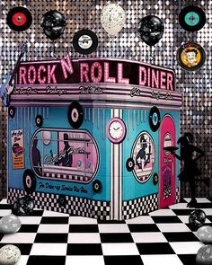 Rock and Roll Diner 50s Rock And Roll, Classic Rock And Roll, Rock And Roll Dance, Grease Theme, Grease Party, 50s Theme Parties, Party Themes, Sock Hop Party, Dance Themes