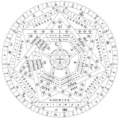 Unexplained Mysteries of Enochian Magic Occult Symbols, Magic Symbols, Occult Art, Ancient Symbols, Demon Symbols, Alphabet, Unexplained Mysteries, Magic Circle, Book Of Shadows