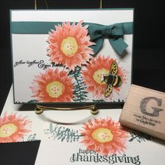 Stampin' Up: Painted Harvest from the 2017 Holiday Catalog. Card from 10/15/17 Stamp-a-Stack.