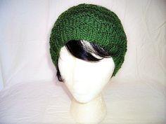 Hand Knit Ear Warmer Chevron Stitch Headband by MarieHolmanDesigns