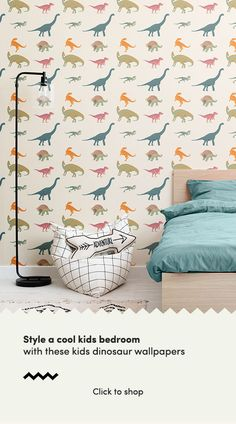 Get up close and personal with the dinosaurs from a lost world with this collection of fun, educational kids wallpapers. Dinosaur Wallpaper, Kids Wallpaper, Print Wallpaper, Bedroom Wall, Bedroom Decor, Bedroom Ideas, Cool Dinosaurs, Dinosaur Bedroom, Cool Kids Bedrooms
