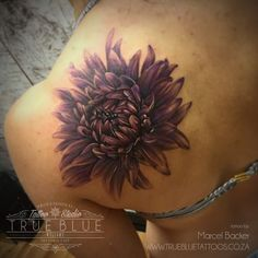 """Chrysanthemum"" by Marcel Backer of True Blue Professional Tattoo Studio"