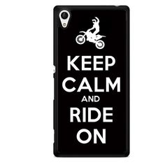 Keep Calm And Ride On TATUM-6129 Sony Phonecase Cover For Xperia Z1, Xperia Z2, Xperia Z3, Xperia Z4, Xperia Z5
