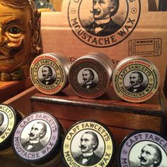 Full range of Capt Fawcetts moustache wax available.