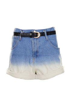 Retro Empire Waist Denim Shorts  $47.99 #romwe