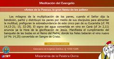 """MISIONEROS DE LA PALABRA DIVINA: MEDITACIÓN DEL EVANGELIO - """"Antes de la Pascua, la..."""