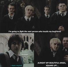 Harry Potter Comics, Cute Harry Potter, Harry Potter Feels, Harry Potter Draco Malfoy, Harry Potter Jokes, Harry Potter Pictures, Harry Potter Universal, Harry Potter Characters, Drarry Fanart