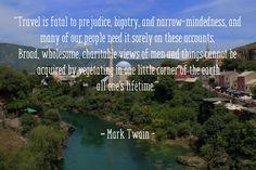 Mark Twain #travel quote.