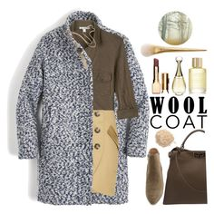 """Cold Weather Essentials:Wool Coat"" by grozdana-v ❤ liked on Polyvore featuring Aromatherapy Associates, J.Crew, James Perse, Laveer, belle by Sigerson Morrison, Fendi, Clarins, Christian Dior, Le Métier de Beauté and woolcoat"