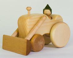 Juguetes de madera Waldorf de Tractor coche de por BERTYandMASHA