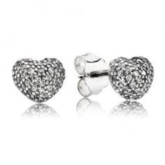 Adorned with a sparkling Cubic Zirconia pave, these elegant heart design Sterling Silver stud earrings from the Pandora Summer 2013 Collection are sure to catch the eye with their glistening decoration.Sterling Silver Stud EarringsHeart DesignClear Cubic Zirconia Pave