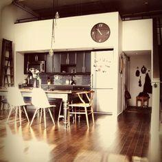 Recessed kitchen