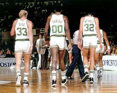 Boston Celtics - Kevin McHale #32, Robert Parish #00 and Larry Bird #33 - The dream team!