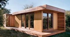 This modern prefab cabin, called the BlueSky MOD, is one of a few examples of affordable green modular homes currently available today (see these books for more examples). It was designed by Todd Saunders, an…