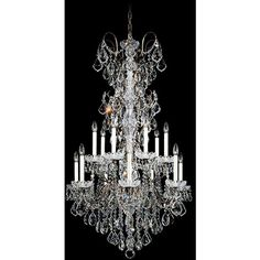 """Schonbek New Orleans Collection 53"""" High Crystal Chandelier ($13,233) ❤ liked on Polyvore featuring home, lighting, ceiling lights, brown, chandeliers, crystal chandeliers, crystal ceiling lights, crystal hanging lights, crystal hanging lamps and column lights"""