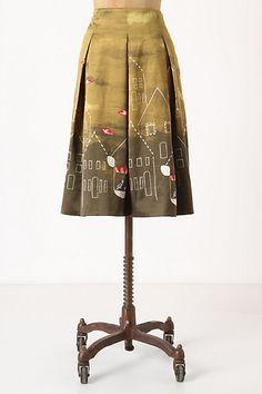 Feathered Village Skirt by Maeve