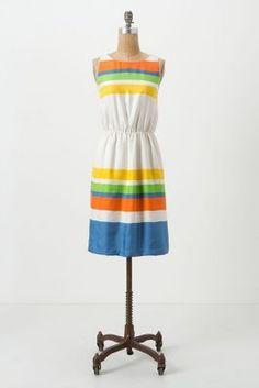 Summer striped dress.