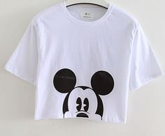 EAST KNITTING Summer  Hot Sale  White  28 Number Print  Crop Tops Summer Girls T-shirts   Tees Free Shipping