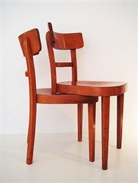 Doppel-Stuhl double-chair by Rolf Sachs
