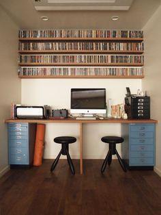 IMH | 書斎のリノベーション事例写真 | 株式会社 錬 | HOUSY Office Desk, Corner Desk, Furniture, Home Decor, Ideas, Corner Table, Homemade Home Decor, Desk Office, Decoration Home
