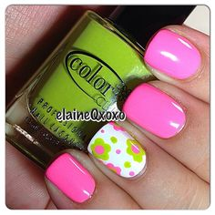 Instagram photo by elaineqxoxo  #nail #nails #nailart   so spring