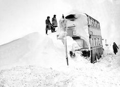 A London bus that had to be dug out of a snowdrift in 1947  Read more: http://www.dailymail.co.uk/news/article-1242189/Cheer-At-1947--winter-power-cuts-TV-baths-children-sent-bed-dinner-wasnt-food.html#ixzz3Fg4QJHXg