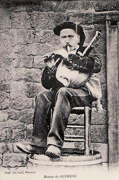 sonneur de biniou kozh de Guéméné 1914