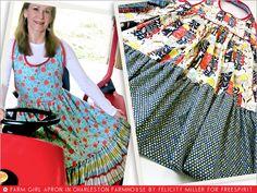 FreeSpirit-Rowan 10&10 Series: Farm Girl Reversible Apron in Felicity Miller/Charleston Farmhouse | Sew4Home