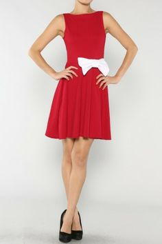 Bow Side Dress If you love dresses salediem has the look for Fall #salediem #fall#fashion. Shipping is FREE!