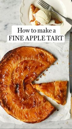 Easy Tart Recipes, Apple Pie Recipes, Sweet Recipes, Cooking Recipes, Susan Recipe, French Dessert Recipes, French Dishes, Sweet Tarts, Marzipan