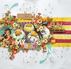Seungeun Lee's craft room: scrapbooking 'MY CAKE '( The Studio Challenges ) Floral Wreath, Scrapbooking, Challenges, Make It Yourself, Studio, Room, Crafts, Bedroom, Floral Crown