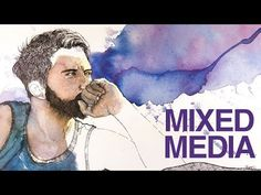 Watercolor, Pen and Ink Portrait - Mixed Media Art - Drawing & Painting - The Virtual Instructor | YouTube