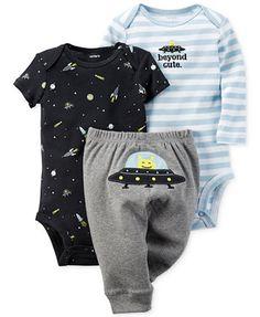Carter's Baby Boys' 3-Pc. Space Bodysuits & Pants Set | macys.com