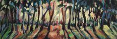 LICHTUNG ( Zweiteiler) Acryl auf Leinwand 63 x 180 cm