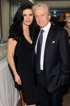Catherine Zeta-Jones & Michael Douglas coupled up for the Chaplin Award Gala in NYC