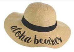 c04aedce Aloha Beaches Fun Verbiage Elegant Wide Brim 4